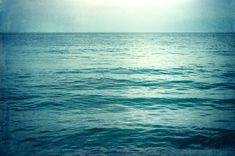 "Ocean Photography - water beach sea dark blue aqua teal turquoise seascape print waves coastal - 8x12, 24x36 Photograph, ""I Go To The Sea"""