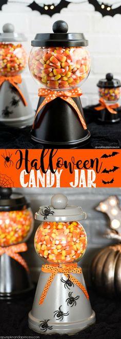Halloween Candy Jar.