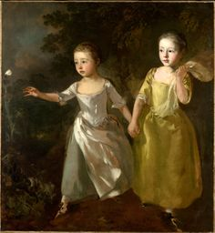 Thomas Gainsborough, The Painter's Daughters Chasing a Butterfly, 1755-56.