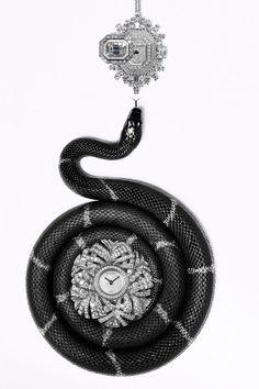 Harry Winston watch pendant, 800-988-4110; Chanel Watch watch, $79,500, 800-550-0005.   - HarpersBAZAAR.com