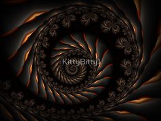 Dark Fractal Spiral. Kitty Bitty Redbubble