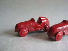 Car Red Toy Vintage Miniature by vintagejewelryalcove on Etsy, $5.50