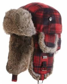 Shop FurHatWorld for the best selection of Men' s Fashion Trapper Fur Hats. Buy the Buffalo Check Rabbit Fur Aviator Hat for Men by FRR with fast same day shipping. Trooper Hat, Aviator Hat, Mens Fur, Winter Hats For Men, Hat For Man, Rabbit Fur, Winter Accessories, Black Wool, Buffalo Check