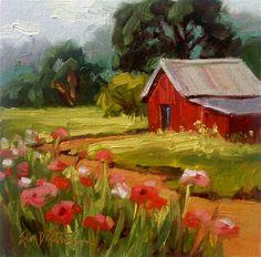 Hill Country Poppies - Original Fine Art for Sale - © Erin Dertner