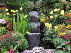 To hear the sounds of a waterfall in our yard......... A must in my dream garden.