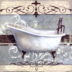 Elegant Spa I..... I bought this for my bathroom. My b-room is all shabby chic.....