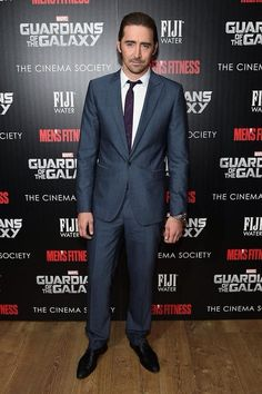 Lee Pace attends The Cinema Society with Men's Fitness and FIJI Water special screening of Marvel's Guardians of the Galaxy at Crosby Street Hotel on July 29, 2014 in New York City.