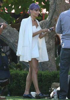 Nicole-Richie - Topshop - White Jump Suit
