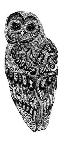 via Fake Tattoos - Scandinavian temporary tattoos - Owl
