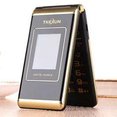 "32$  Watch here - 3.0"" dual Screen cell phones Dual SIM FM senior touch flip cheap gsm china mobile phone russian keyboard button TKEXUN   #aliexpresschina"