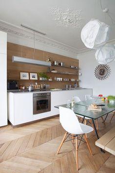Un appartement parisien rénové -design