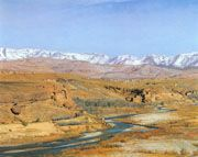 Claudio Bravo, Atlas landscape, 1979, oil on canvas, 39 x 50 cm