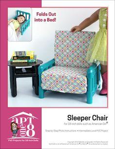 Sleeper Chair plus Bonus Side Table PVC Pattern