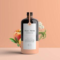 Kati Forner - Welcome Kombucha, Whiskey Bottle, Brewing, Muse, Beverages, Perfume Bottles, Peach, Packaging, Fruit