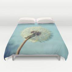 dandelion, blue, wish, spring, nature