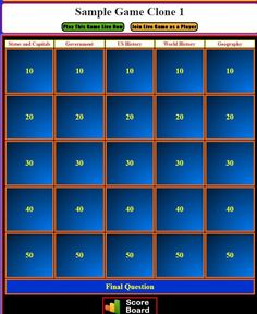 review and teach with these 9 free jeopardy templates | template, Modern powerpoint