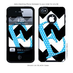 Otterbox Commuter Case Personalized for iPhone 5 iPhone 4/4s Samsung Galaxy S3 - Chevron Polka Style. $55.00, via Etsy.