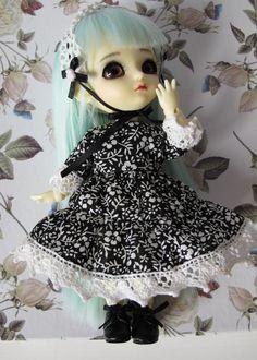 Gothic lolita set od dress and headdress for by EveryDollsDream