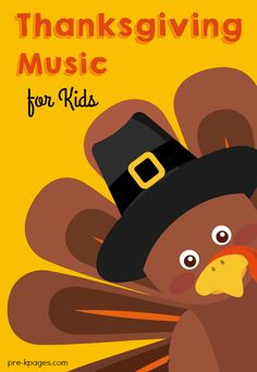Fun Thanksgiving music and songs to use in your preschool or kindergarten classroom. Preschool Music, Fall Preschool, Preschool Activities, Preschool Lessons, Preschool Learning, Holiday Activities, Therapy Activities, Youtube Videos For Kids, Youtube Songs