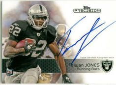 Taiwan Jones 2011 Topps Precision Certified Autographed Card. Great Signature.