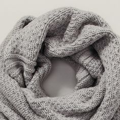 Stitch Detail Chunky Scarf | The White Company