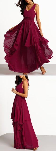 burgundy long prom dress evening dress, 2017 long evening dress party dress