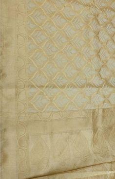 Pastel Handloom Banarasi Kora Silk Saree