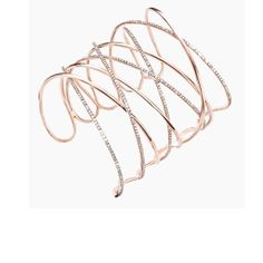 Messika    Pink gold and diamond Spartacus cuff,