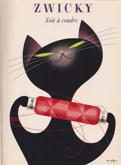 Zwicky, Swiss silk (poster by Donald Brun, c1955).