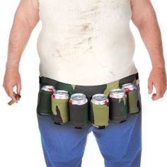 Big Mouth Toys is selling this 6 Pack Beer Holster. It comes in one color and one color only, the only color appropriate for a Beer Holster: camoflague. The adjustable straps fits up to a 50 inch w. Redneck Gifts, Redneck Party, Drunk Party, Camo Party, Redneck Humor, Dad Humor, Redneck Christmas, Gag Gifts Christmas, Funny Christmas