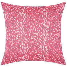 Mina Victory Animal Throw Pillow ($37) ❤ liked on Polyvore featuring home, home decor, throw pillows, pink, pink throw pillows, patio throw pillows, colored throw pillows, pink home decor and outdoor patio pillows