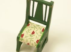 Green Kitchen Chair Dining Wooden 1:12 Dollhouse by dalesdreams