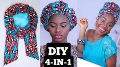 African Hair Wrap, African Head Wraps, Hair Wrap Scarf, Hair Scarf Styles, Bonnet Pattern, Wrap Pattern, African Print Dress Designs, African Dresses For Kids, Hair Bonnet