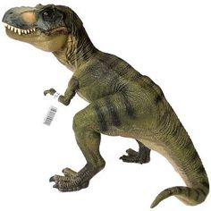 This Tyrannosaurus Rex plastic dinosaur toy figure has an amazing amount of detail and has a movable jaw!