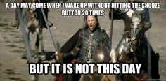 You begin your first bit of exercise %u2014 hitting the snooze button. | The 18 Stages Of Waking Up