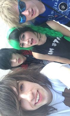 """(( ignore the guys and look at the girl)) """" umm I dyed and cut my hair… what do you think?"""" I smile """" and please don't kill me jake"""""""