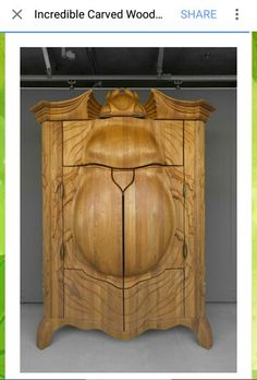 Latvian artist carved cabinet...neeeedddd