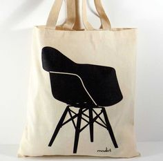 Mix and Match Canvas Tote Bags, Mid Century Modern Chairs