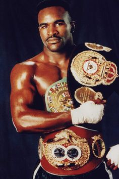 """Evander Holyfield aka """"The Real Deal"""", boxer and former Undisputed World Champion in both the cruiserweight and heavyweight divisions. He is the only 4-time World Heavyweight Champion, winning the WBA, WBC, and IBF titles in 1990, the WBA & IBF titles in 1993 and the WBA title in 1996 & 2000. During his rematch with Mike Tyson, called the """"The Bite Fight,"""" one of the most bizarre fights in history, Tyson bit off the top of his ear and spit it on the ring floor."""