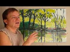 Jak nauczyć się malować farbami olejnymi? PEJZAŻ 3 cz.3
