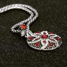 Turkmen Vintage Ruby Jewelrt Necklace  #turkmen #boho #fashion #turkish #stylish #jewelry