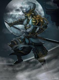 samurai on the roof Ronin Samurai, Samurai Armor, Knight Armor, Arte Ninja, Ninja Art, Samourai Tattoo, Character Inspiration, Character Art, Japanese Warrior