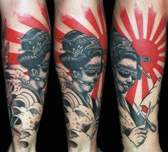 Japanese Geisha Tattoo by Leonidas Lonis Tattoo