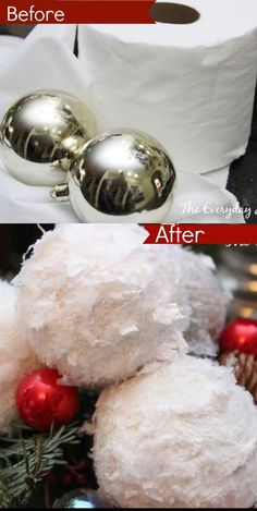 How to make snowball Christmas ornaments