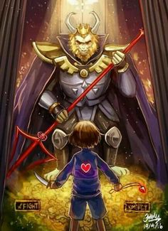 Asgore. He keeps his head down during his boss fight because he knows that what he is doing is wrong