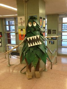 Life size figure made by high school students.
