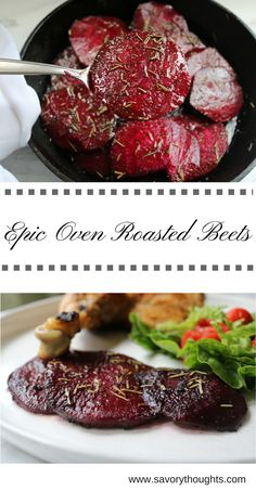 Easy Oven Roasted Beets Oven Roasted Beets – Simple, quick, and easy to prep beets. Takes a little over 30 minutes in the oven. Made with only 5 ingredients. Easy Beet Recipe, Roasted Beets Recipe, Cooking Beets In Oven, Roasting Beets In Oven, Cooking Lamb, Cooking Ribs, Cheap Clean Eating, Clean Eating Snacks, Vegetable Dishes