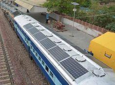 India, unos de los países más contaminantes del planeta, planea reducir en 3.000.000.000 litros diésel/año instalando paneles solares en sus trenes de cara al 2020.