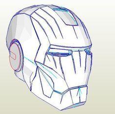 Pepakura IronMan helmet by watsdesign. Resources, Tools, and Materials for your Pepakura at www.PepakuraPros.com.