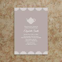 Tea Party Invitation - Tea Party Invite - Baby Shower Invitation - Bridal Shower Invitation - Birthday Invite - DIY Printable File. $20.00, via Etsy.